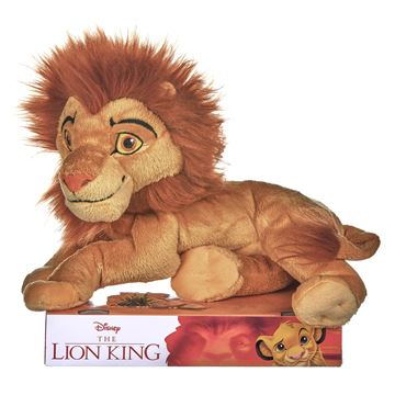 """LION KING 25CM (10"""") SIMBA ADULT soft plush toy for ages 3 and over"""