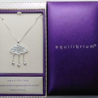 Equilibrium CLOUD Raindrop Necklace FRIENDS SKY