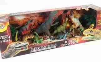 Megasaurs 13 Figures - Dinosaur Figure Set in Box