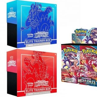 Pokemon Sword and Shield 5 Battle Styles Elite Trainer Boxes Red & Blue + 1 Battle Style Booster Box