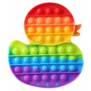 Duck and Butterfly Rainbow Bubble Popping Sensory De-Stress Toy