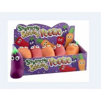 Stretchy Squidgy Veggie - Assorted - Carrot - Chilly - Aubergine - all 3 supplied